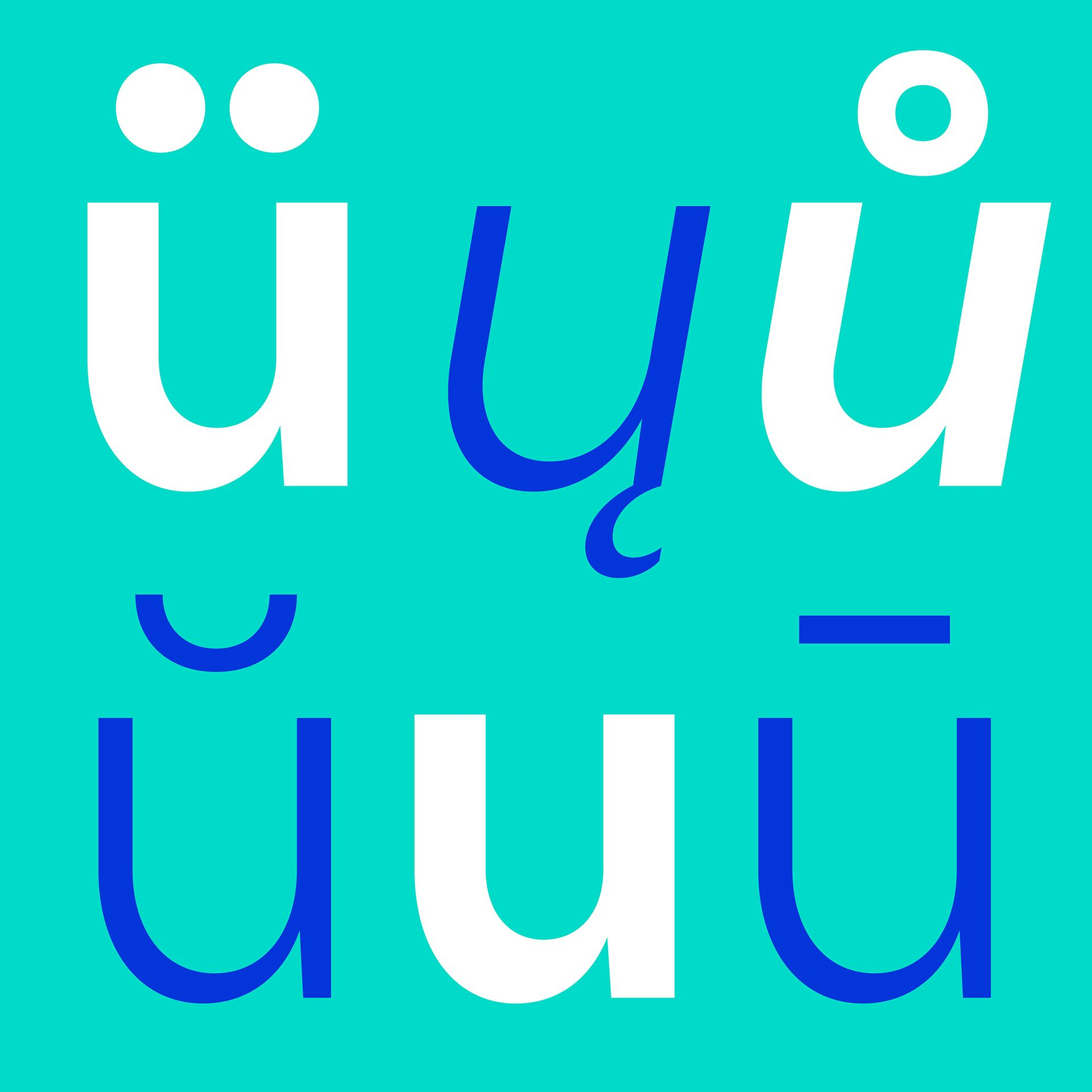 Uivo - Over 400 glyphs, supporting 48 languages