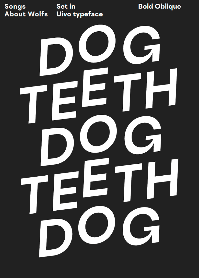 uivo typeface poster