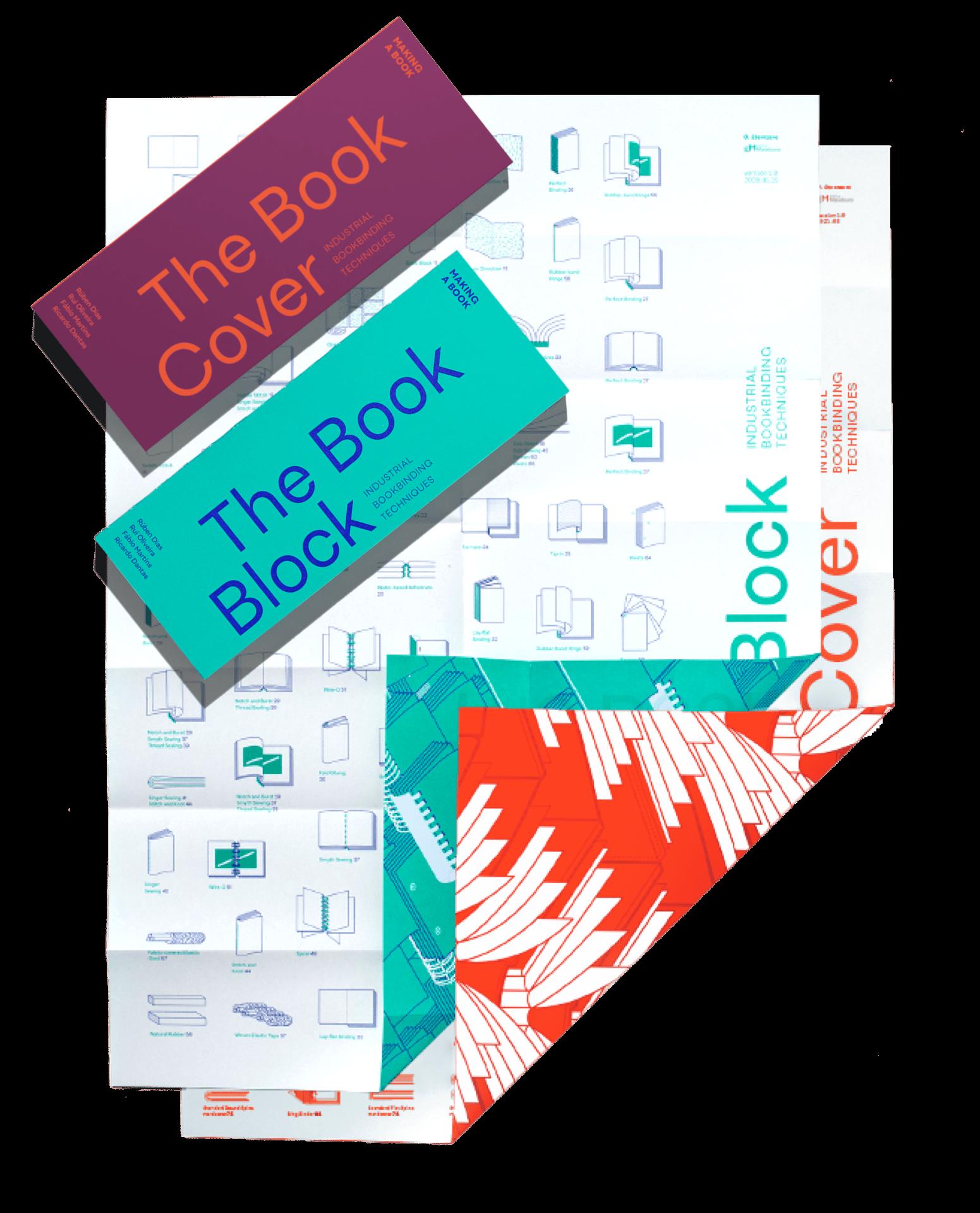 book cover + book block + poster book cover + poster book block